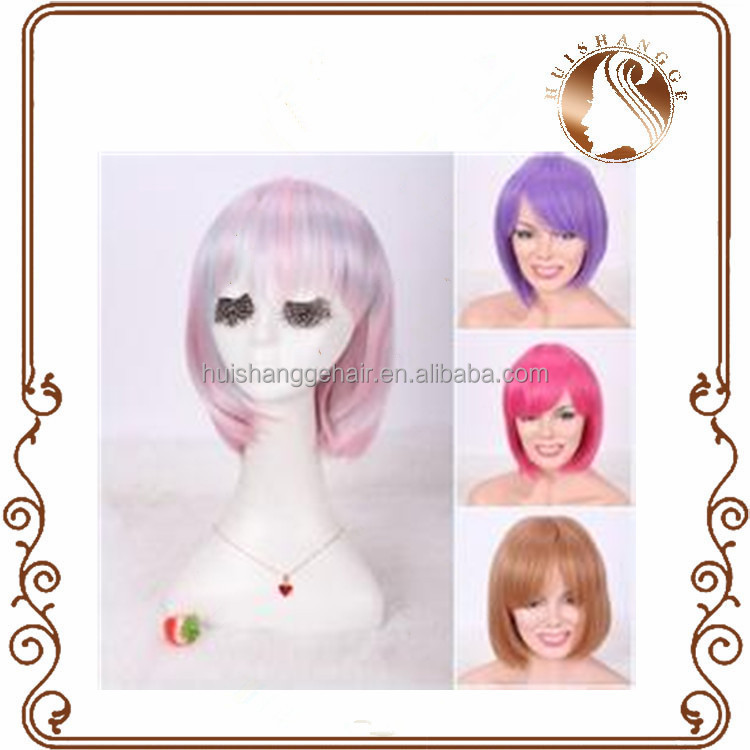 Cosplay party sports colourful cute false wig