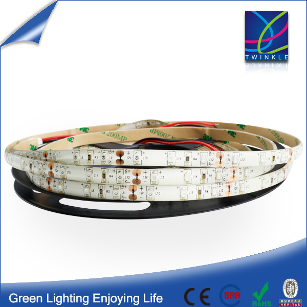 Waterproof Epistar 60LED SMD 2835 LED Flexible Ribbon Strip Light Warm White 12V 24V outdoor