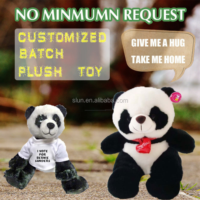 HI CE Fancy custom walking made plush panda bear stuffed toy