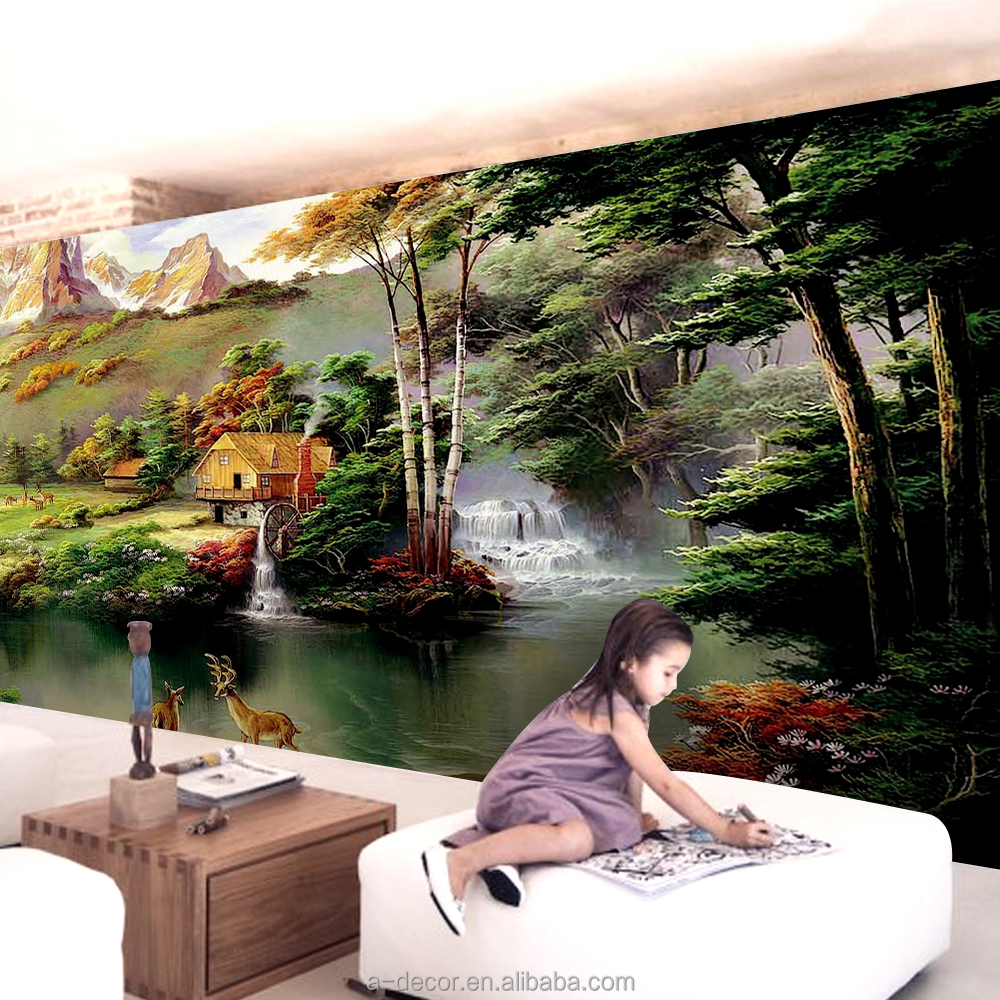 list manufacturers of landscape wall mural buy landscape wall eco friendly chinese landscape wall paper chinese painting wall murals beautiful deer painting photomural