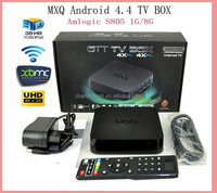 factory price hot selling kodi 15.2 fully loaded quad core android tv box mxq s805 digital tv set top box