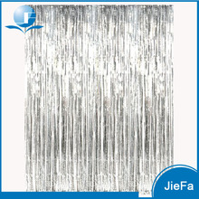 Photo Backdrop Shimmering Foil Curtain Party Decoration Backdrop for Wedding/Birthday/Babyshower Party Metallic Silver Curtains