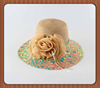 Promotional girls fashion paper straw sun hat wholesale