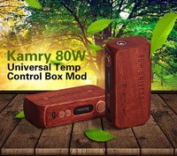 2016 new e cigarette China wholesale Kamry 80w wood vapor box mods with huge vaping