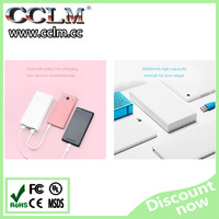 Original high quality External Battery for xiaomi 20000mah power bank charger dual usb output