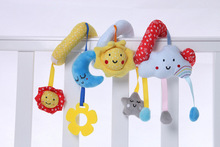 Plush Baby pram spiral toy stroller toys soft infant bed toys
