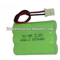 AAA 600mah 3.6v ni-mh rechargeable battery pack