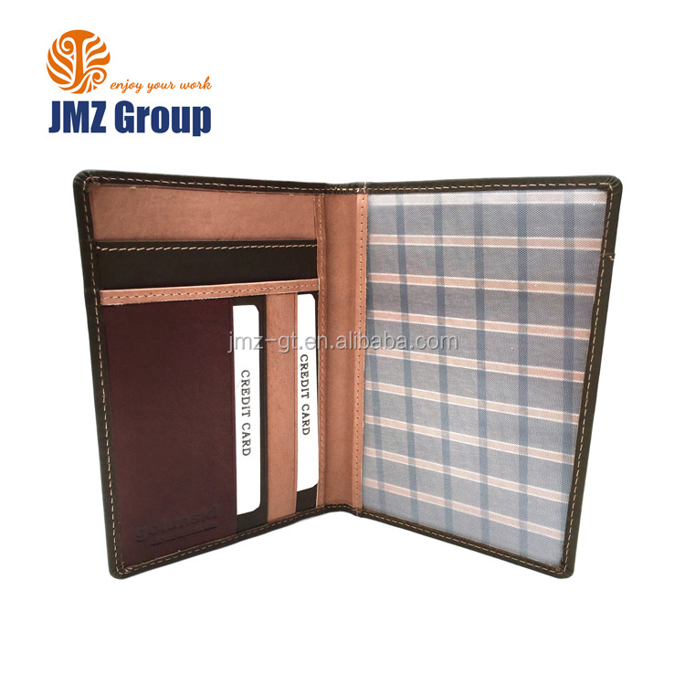 RFID Blocking Leather Passport Holder Airline Ticket Holder