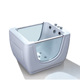 Cobuild white baby spa bathtub with glass panel