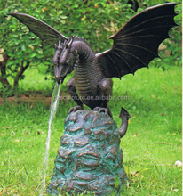 bronze dragon water fountain for home decoration