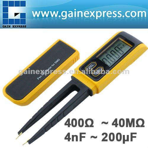 Pen type Tweezers Digital Resistance Capacitance Diode Test Multimeter Meter R / C SMD