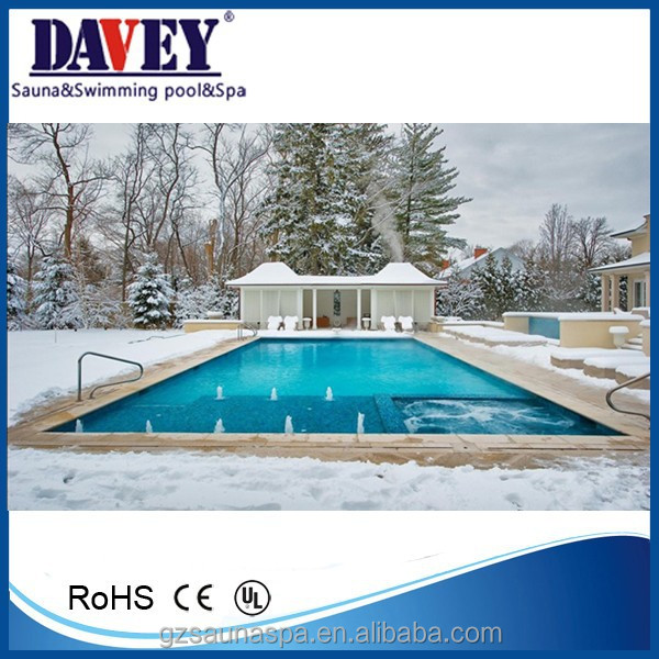 Hot water, swimming pool+spa pool complete equipment, 60m3 swimming pool