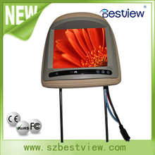 8'' Car LCD headrest monitor without pillow touch optional