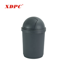 Malaysia round design recycle bin office plastic swing lid garden dustbin table trash can with round cover
