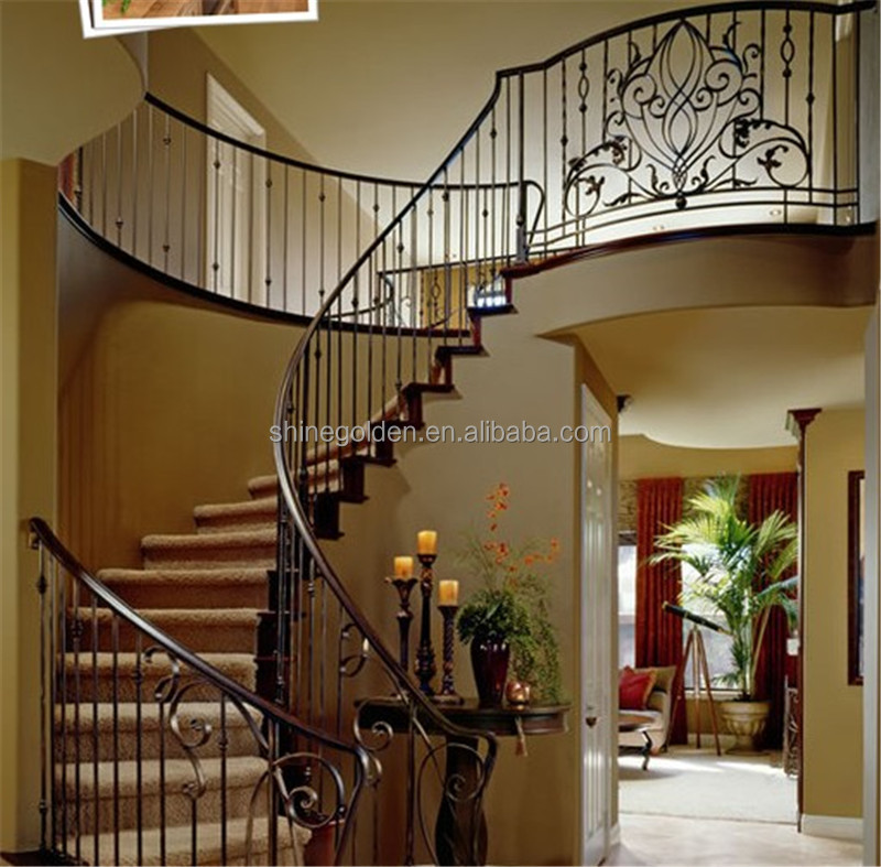Folding Stairs Handrails Outdoor Wrought Iron Railings