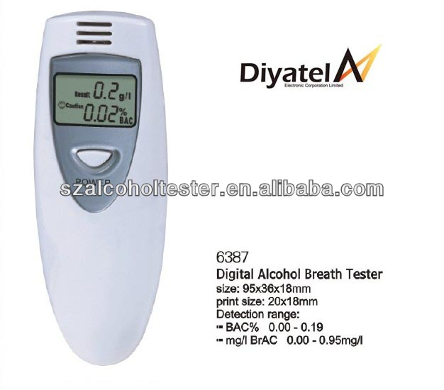 Promotion Gift Best Breathalyzers Alcohol Tester/Wholesale Goods Professional Digital Breath Alcohol Detector 6387