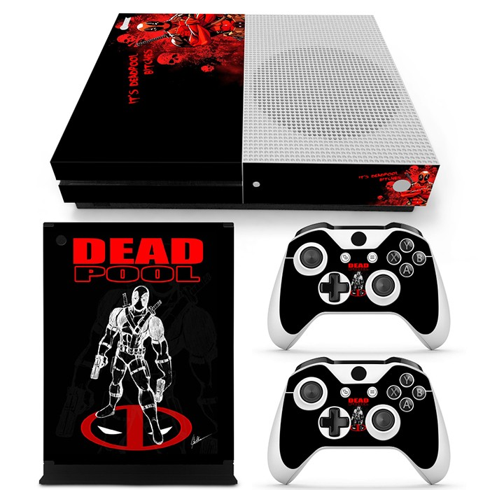 New design skin stickers for XboxOne S console and 2 controllers