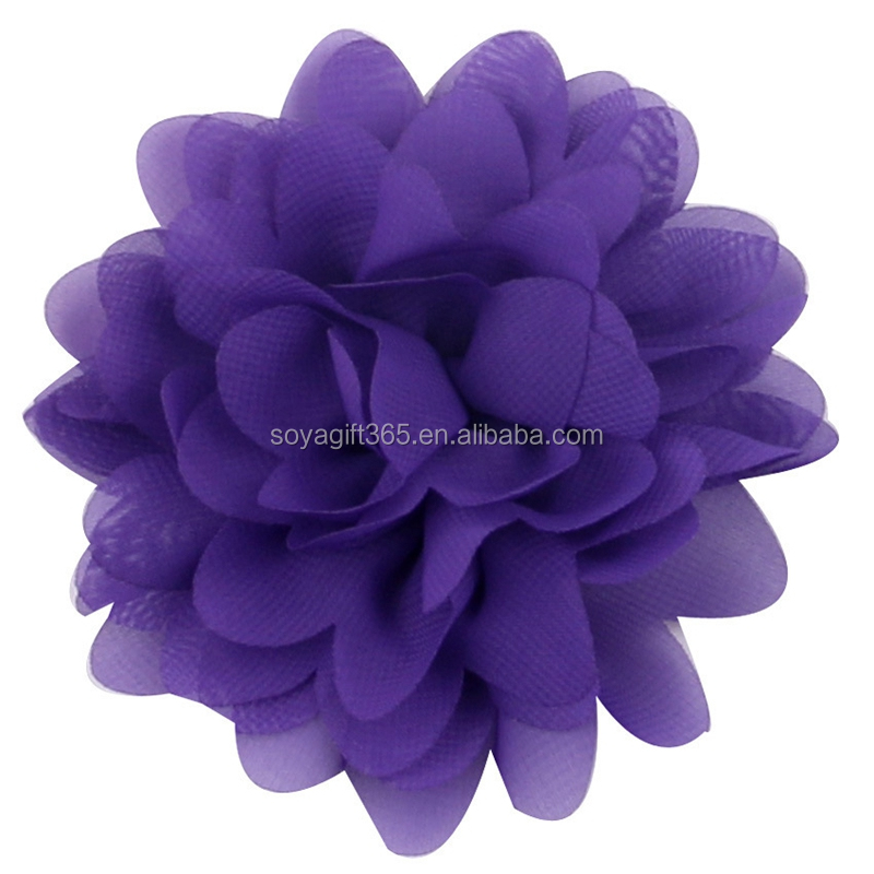 Chiffon Flower DIY supplies Baby Headbands Headband DIY 16 colors 10 cm