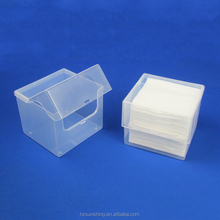 Personal care Cosmetic Cotton Pads plastic storage case box