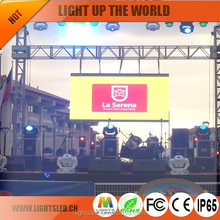 outdoor led p8 full color LED display/ big tv dip for business/dvd movies