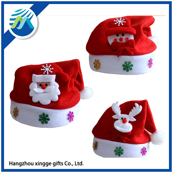 Snowman And Santa Claus Christmas Hat For Child
