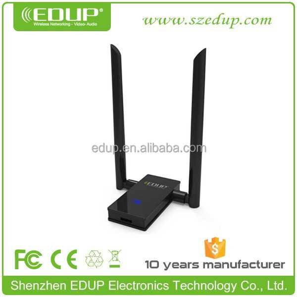 Alibaba Best Seller EDUP 1200mbps dual band usb wifi wireless network card lan adapter with external antenna EP-AC1605