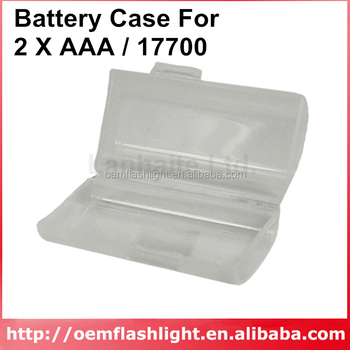 Battery Case For 2 x AAA / 17700 (1 pc.)