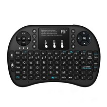 Miomix Portable Multimedia silicon rubber mini wireless touchpad Keyboard with laser pointer