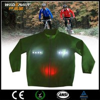 Hi vis cycling clothing china with LED lights