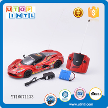 Red plastic high speed 4 channels remote control mini rc car drifting