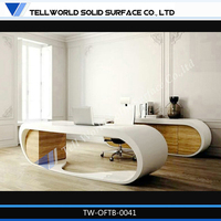 100% pure acrylic solid surface industrial style office desk