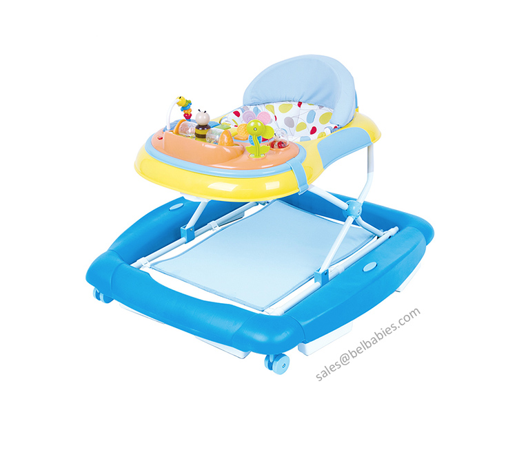 fashion and multifunction 4 in 1 inflatable baby walker car