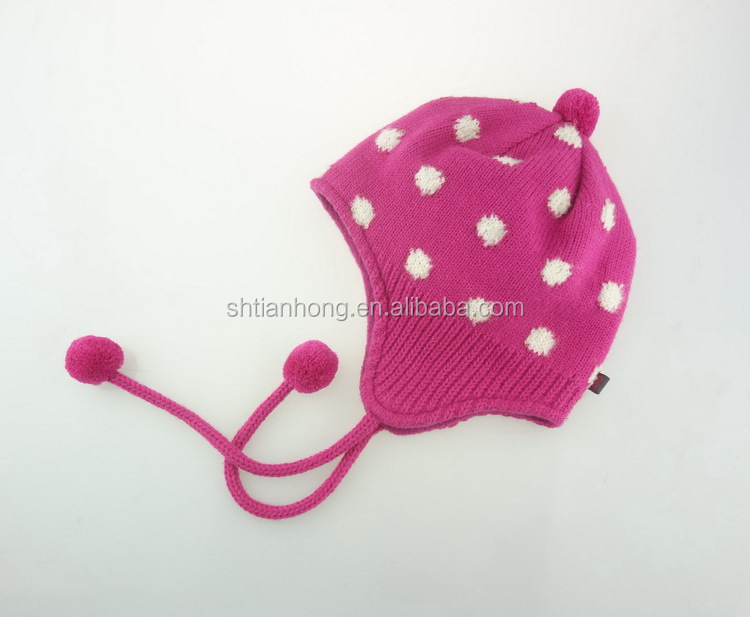 Processing customized low price children's knitted printed hat
