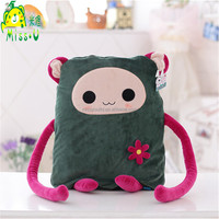 Soft Lovely Cartoon Air conditioning Green Plush Blanket Manufacturer