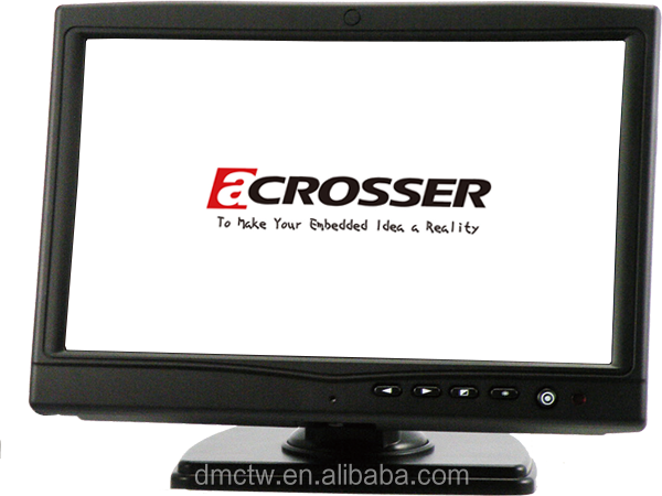 10.2-Inch(16:9) Display Monitor with VGA, USB Touch Screen and DC 9-32V Input for Car PC and In-Vehicle Application