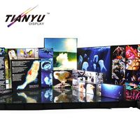 Low price edgelight super slim acrylic customized LED poster animation light box