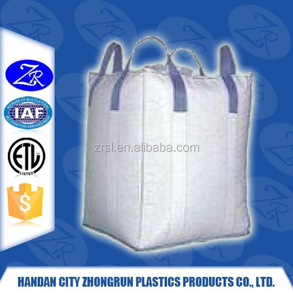 Big strong plastic PP woven bag/sack yellow color bulk bag, UV treated/jumbo bag/super sack