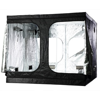 "96""x96""x78"" 600DMylar Hydroponic Grow Tent with water proof floor tray for indoor plant growing"