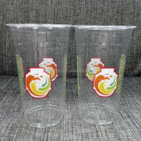 32oz PET disposable plastic cups for cold drinking