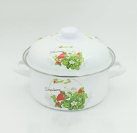 strawberry decal printing cookware set enamel casserole