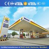 Outdoor Metal Space Frame Gas Station Led Canopy With Lights