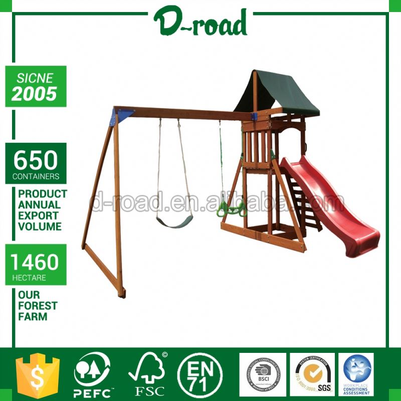 Quality Assured Nice Design Play Set With Slide Swings