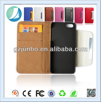 leather card holder case for iphone 4 with magnetic belt clip