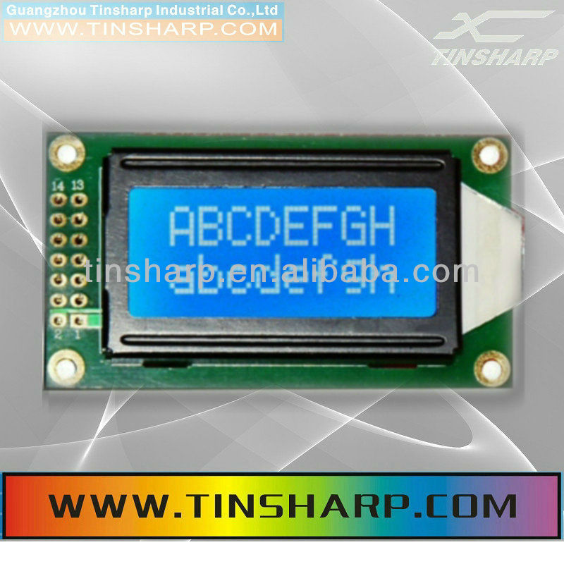 8x2 small Character LCD(TC802C-10)