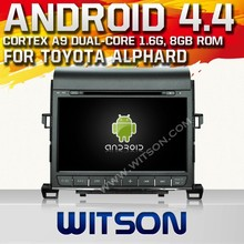 WITSON ANDROID 4.4 FOR TOYOTA ALPHARD LOW PRICE CAR DVD WITH 1.6GHZ FREQUENCY A8 DUAL CORE CHIPSET BLUETOOTH