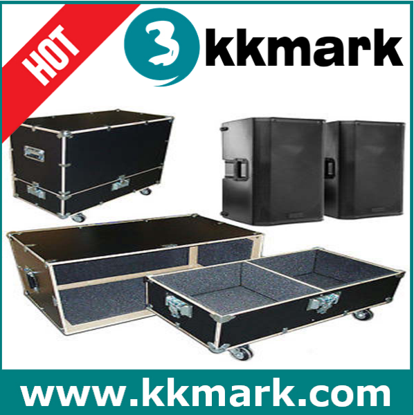Professional Speaker Flight Case for Two QSC K12 Speaker with Casters and Wheel