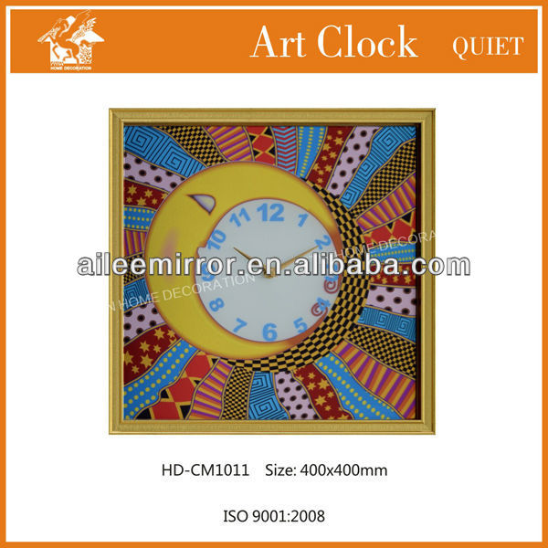 Art picture craft sun and moon combined clock