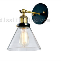 ancient industrial metal and glass mounted wall lamp RH loft hot selling