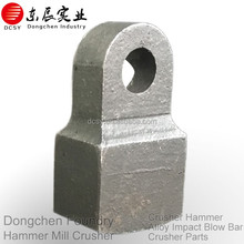 Casting stone crusher hammerhead to hammer crusher spare parts