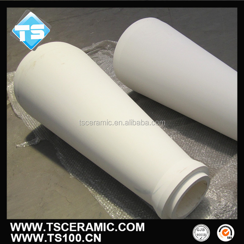 Alumina Al2o3 Ceramic Cone Shaped Tube
